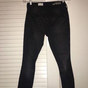 Gap black skinny jeans!